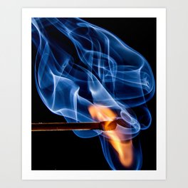 Burning Match | Lit Fire Art Print