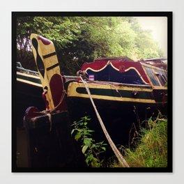 Canal Narrow Boat Canvas Print
