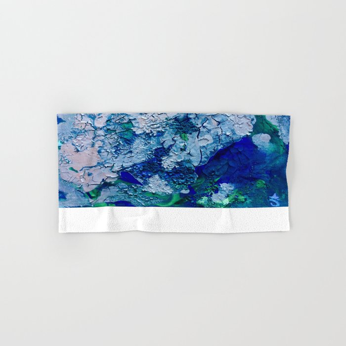 Imagined Ocean View From Above Hand & Bath Towel