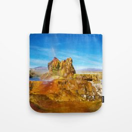 Fly Geyser Watercolor Tote Bag