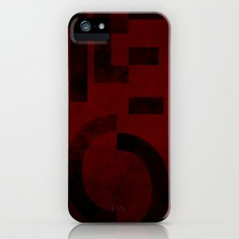 Merlot Wine Typography iPhone Case