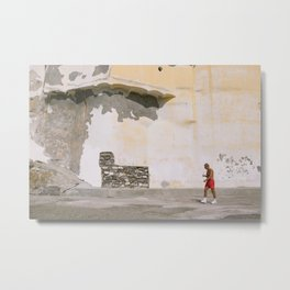 Italian man walking in a colorful village | Amalfi coast printable photo | travel photography print | Italy Art Print Metal Print