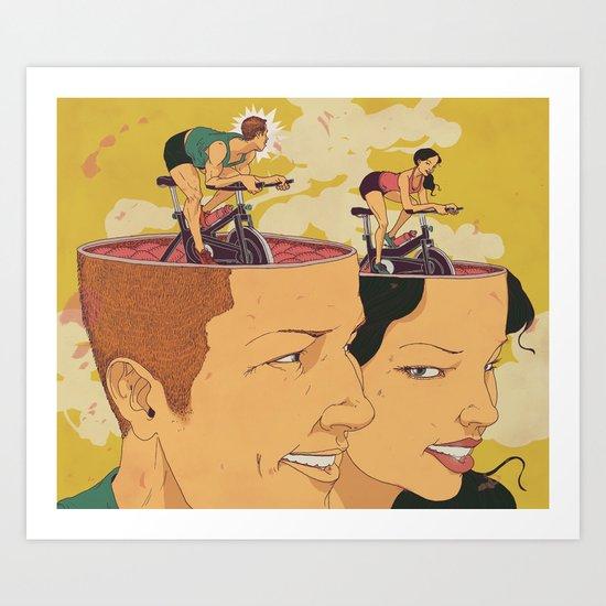 Fitness Man and Woman Art Print