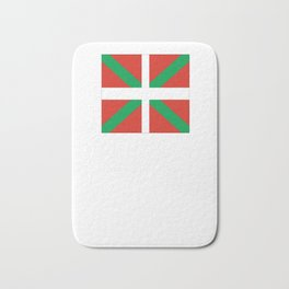 Flag of Euskal Herria-Basque,Pays basque,Vasconia,pais vasco,Bayonne,Dax,Navarre,Bilbao,Pelote,spain Bath Mat