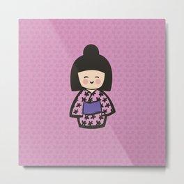 Geisha Dress Code (pink) Metal Print