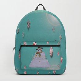 Blue Haze Snowman Ornaments Backpack