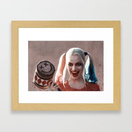 Harley Quinn The Homicidal Maniac - Suicide Squad Framed Art Print