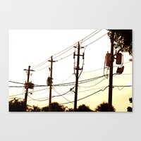 acdc Canvas Prints featuring acdc by Klezmatik