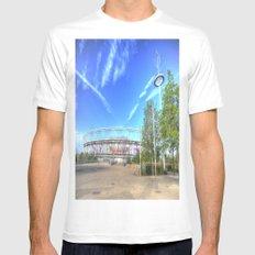 West Ham Olympic Stadium And The Arcelormittal Orbit  White MEDIUM Mens Fitted Tee