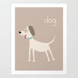 D for Dog Art Print