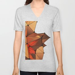 Abstract geometric reds Unisex V-Neck