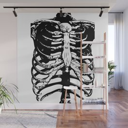 Skeleton Ribs | Skeletons | Rib Cage | Human Anatomy | Black and White | Wall Mural