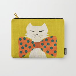 Cat with incredebly oversized humongous bowtie Carry-All Pouch