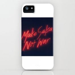 Make Salsa not war iPhone Case