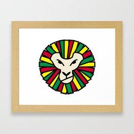 Lion Rastafari Framed Art Print