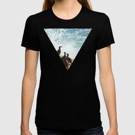 Crashing Waves and Cormorants T-shirt