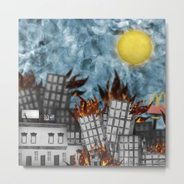 Hell Fire & McDonalds Metal Print
