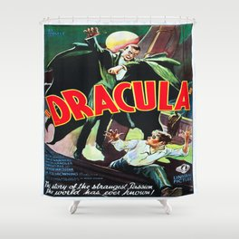 Vintage poster - Dracula Shower Curtain