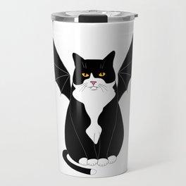 Halloween Bat Cat Travel Mug