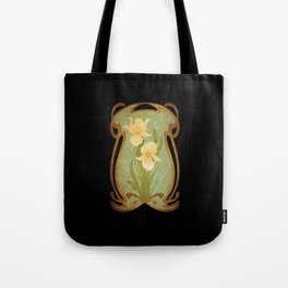 Art Nouveau Flowers Tote Bag