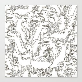 Dinosauriformes Canvas Print