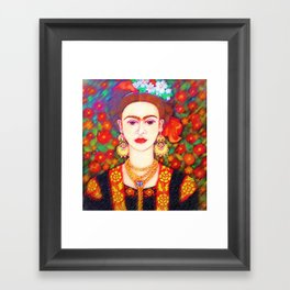 My other Frida Kahlo with butterflies Framed Art Print