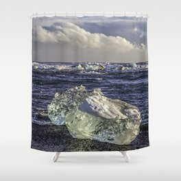 Jokulsarlon Lagoon Beach 04  Shower Curtain