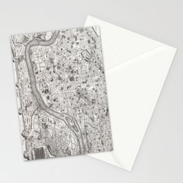 Vintage Map of Rome Italy (1721) 2 Stationery Cards