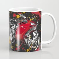 ducati Mugs featuring Ducati 1098 2008 by Larsson Stevensem