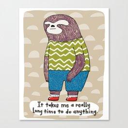 Slow Sloth Canvas Print
