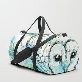 Aqua Tyto Owl Duffle Bag