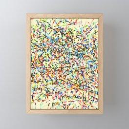 Retro Confetti Framed Mini Art Print