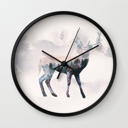 Deer & forest Wall Clock