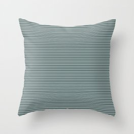 Horizontal Stripes Night Watch PPG1145-7 Juniper Berry Green PPG1145-6 on Cave Pearl PPG1145-3 Throw Pillow