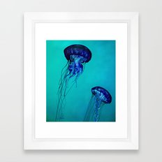 Vibrant Jellyfish Framed Art Print