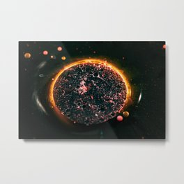 Macro photography. Universe inside the bubble. Amazing abstract photography. Metal Print