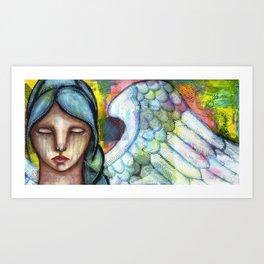 Crying Angel Art Print