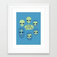 aliens Framed Art Prints featuring aliens by gotoup