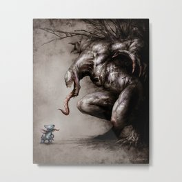 Stitch VS Venom Metal Print