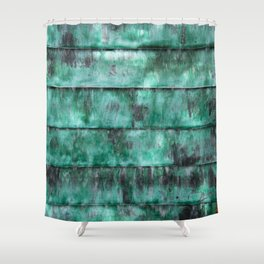Glazed water flow Shower Curtain