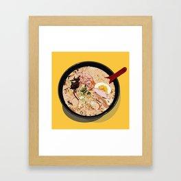 ITADAKIMASU::RAMEN Framed Art Print