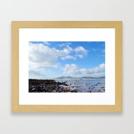 an adventure with a view Framed Art Print