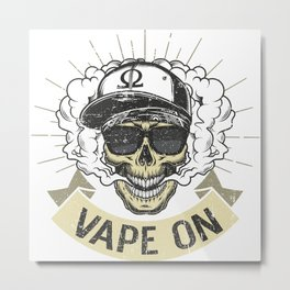 Cloud Chaser - Vaping Gangster - Vape On Metal Print