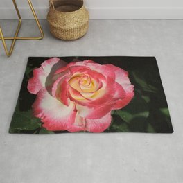 Multi-Hued Rose Rug