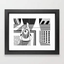 The End of the Story Framed Art Print