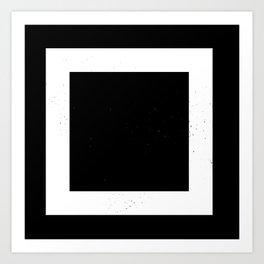 (SQUARE) (BLACK & WHITE) Art Print