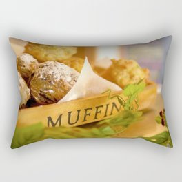 Muffins, fresh and warm, thanks Mom! Rectangular Pillow