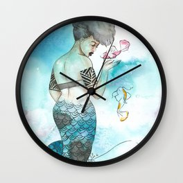 Midori | Inked Mermaids Series Wall Clock