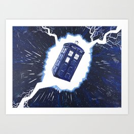 TARDIS Through the Rift Art Print