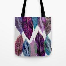 Pink Leaves Tote Bag